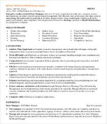 Resume Sample For Retail by Sample Retail Resumes 9 Free Word Pdf Documents Download