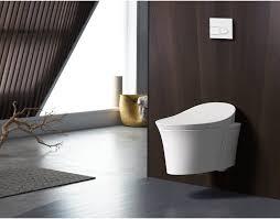 Kohler Bidet Toilet Seats Kohler K 5402 0 White Veil 0 8 1 6 Gpf Elongated Wall Hung