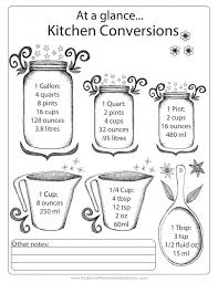 32 cups to gallons best 25 kitchen measurement conversions ideas on