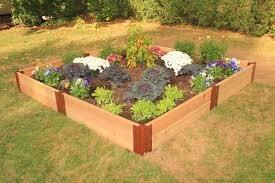 Cedar Raised Garden Bed Frame It All Two Inch Series Modular Cedar Raised Garden Bed