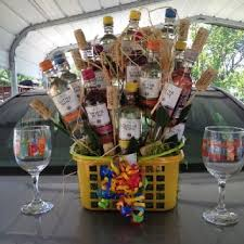 Wine Gift Basket Ideas Mini Wine Bottle Gift Basket For My Sister U0027s 40th Gift Baskets