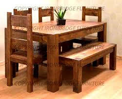 furniture comely solid wood dining table and bench seats room