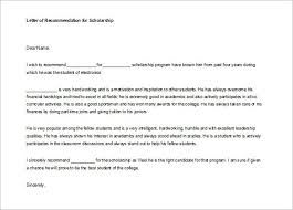 letter of recommendation for college sample of college