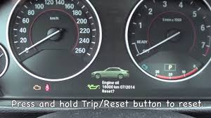 bmw how to reset service indicator how to reset the 2012 2013 bmw maintenance light brake