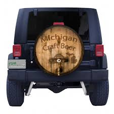 jeep beer tire cover michigan craft beer barrel spare tire cover