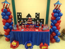 Columns For Party Decorations Captain America Party Decorations Balloon Column City Back