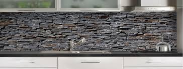 credence cuisine grise crédence de cuisine pierres plates grises sur mesure aluminium ou