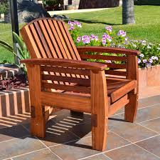 No Cushion Outdoor Furniture - reclining redwood easy chair outdoor wood recliners