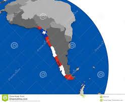 Chile National Flag Chile And Its Flag On Globe Stock Illustration Image 86810781
