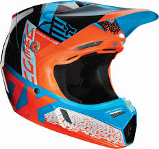 motocross kids helmet fox 2016 v3 divizion aqua orange kids helmet at mxstore