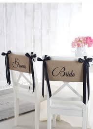 Burlap Chair Sash Product Pick Bride And Groom Burlap Chair Sash Lifestyles