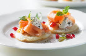 bellini canape smoked salmon blinis tesco food