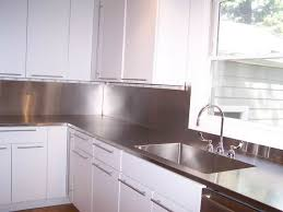 stainless steel countertop with built in sink 4 finish counter top with high backsplash and integrated sink