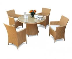 wicker dining table with glass top 4 seat all weather wicker dining set w glass top table armchairs
