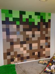 minecraft bedroom dirt block wall minecraft bedroom pinterest