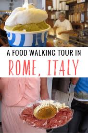 a food walking tour in rome italy