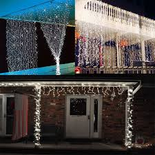 cool white icicle lights 3mx3m 300leds icicle led curtain string fairy light cool white warm