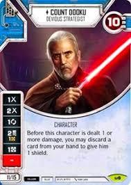 count dooku devious strategist awakenings star wars destiny
