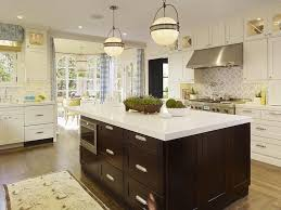 gorgeous two tone white u0026 espresso kitchen design with creamy
