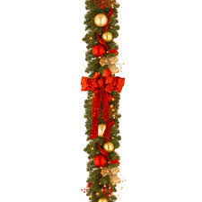 decorating garland walmart pre lit garland home depot garland