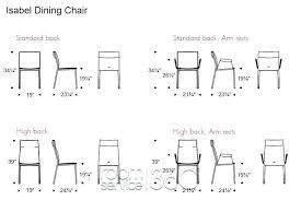 standard seat height normal chair height dining room width seating normal normal seat