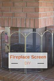 fireplace screen diy for unique fireplace openings melissa dell