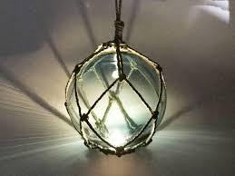 glass fishing float pendant light buy led lighted light blue japanese glass ball fishing float with brown