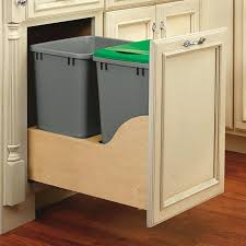under sink trash pull out pull out trash cans kitchen cabinet organizers the home depot sink