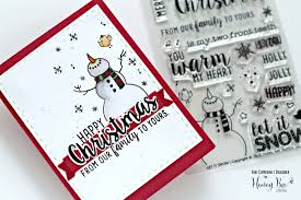 all i want for christmas is you card with honey bee stamps bibi