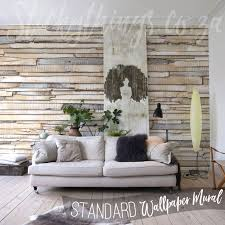 birch wood wallpaper mural realistic whitewashed wood wall mural