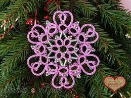 313 best frivolité tatting snowflakes images on pinterest
