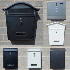 Diy Wall Mount Mailbox Large Lockable Wall Mounted Letter Post Box Mailbox Square Outdoor