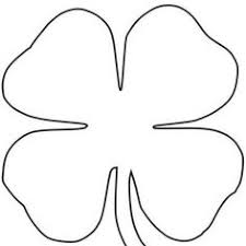 4 leaf clover template clipart 4 leaf clover clipart free