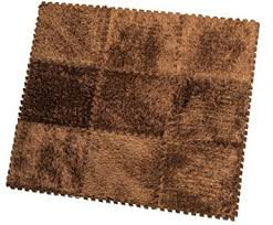amazon com hemingweigh fuzzy area rug 9 fluffy carpet tiles for
