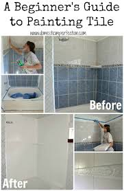 painted bathroom ideas how to refinish outdated tile yes i painted my shower domestic