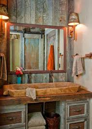 entrancing rustic bathroom design picture of wall ideas modern