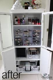 hair and makeup storage makeup storage idea i d do this but i wouldn t keep it in my