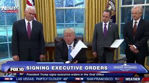 fnn president trump signs executive orders in the oval office