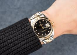 rolex print ads datejust 16233 black diamond dial