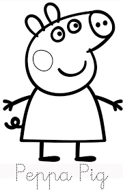peppa pig family print trace colour