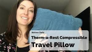 Thermarest Cushion Therm A Rest Compressible Best Travel Pillow For People Who Love