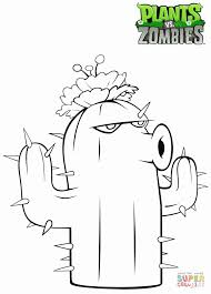 plants zombies cactus coloring free printable coloring