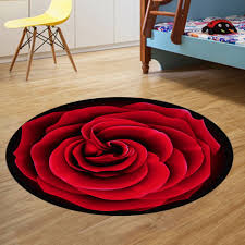 decorative floor mats home floral 120x120cm round floor mat brightcolored cartoon fruit