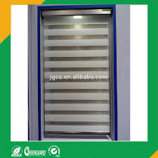 white zebra fabric one way window blinds used as curtian blinds
