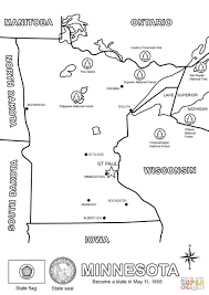 State Of Mn Map by Map Of Minnesota Coloring Page Free Printable Coloring Pages