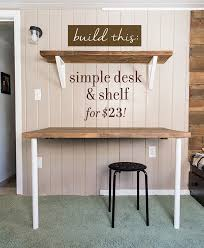 simple diy wall desk shelf u0026 brackets for under 23 desk