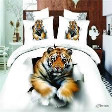 Unique Bed Sheets Designer Tiger Bedding Set Queen Size 100 Cotton 3d Animal Print