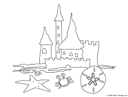 coloring page gorgeous sand coloring pages castle with clamshell