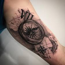 3d Compass Tattoos Compass Symbolism Meaning Gives True Direction Compass