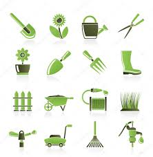 Gardening Tools by Garden And Gardening Tools And Objects Icons U2014 Stock Vector
